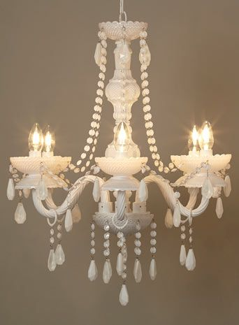 BHS // Illuminate // Blanche Chandelier // white milk glass chandelier