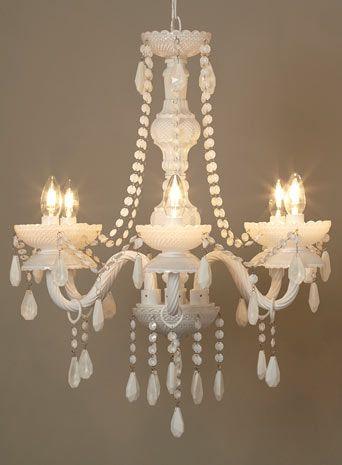 BHS // Illuminate // Blanche Chandelier // white milk glass chandelier