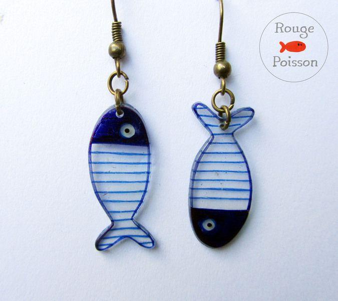 Boucles d'oreilles Poisson de Rouge Poisson sur DaWanda.com                                                                                                                                                                                 Plus
