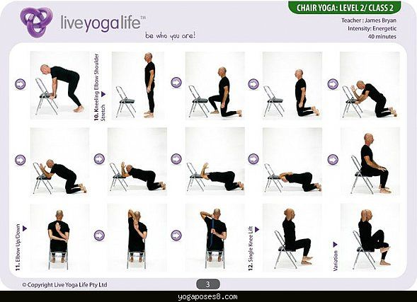 Easy Yoga Sequence For Seniors Poses Positions Chair Yoga