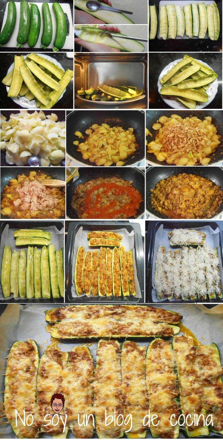 No soy un blog de cocina: CALABACINES RELLENOS DE ATÚN