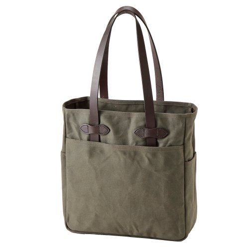 New Trending Tote Bags: Rugged Twill Tote Bag Color: Otter Green. Rugged Twill Tote Bag Color: Otter Green  Special Offer: $140.00  166 Reviews 260-OT Color: Otter Green Features: -Four open pockets (one on each side, and one on each end).-Double layer of fabric on the bottom.-Long carrying handles enough to carry over your shoulder.-No shoulder...