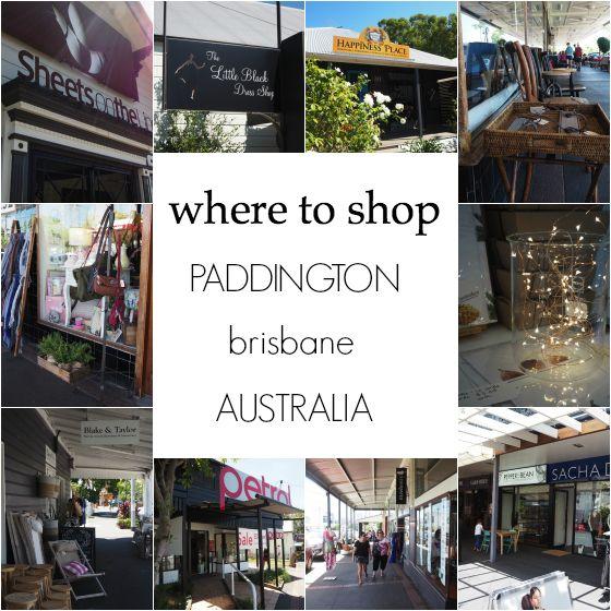 Where to shop Paddington, Brisbane, Australia