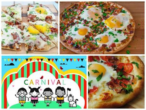 Super exciting newcomer for those eager, morning visitors to our estate and the carnival - The Breakfast Pizza... Brekkie and lunch in one - we're ideas people at Weltevreden Estate But don't take our word for it, come and try it!!