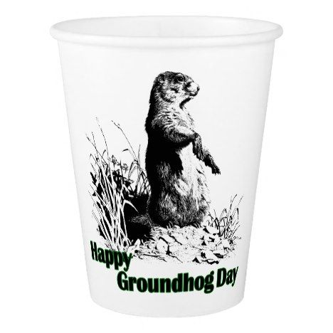 Happy Groundhog Day Party Cups