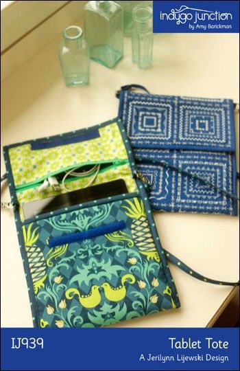 Tablet Tote – IJ939 sewing pattern from IndygoJunction.com $11.99