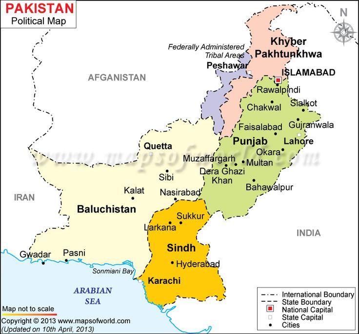 Political Pakistan Map