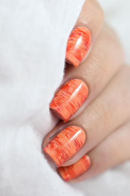 Marine Loves Polish: Kinetics SolarGel Rio Rio collection - Dry brush nail art [Video Tutorial]
