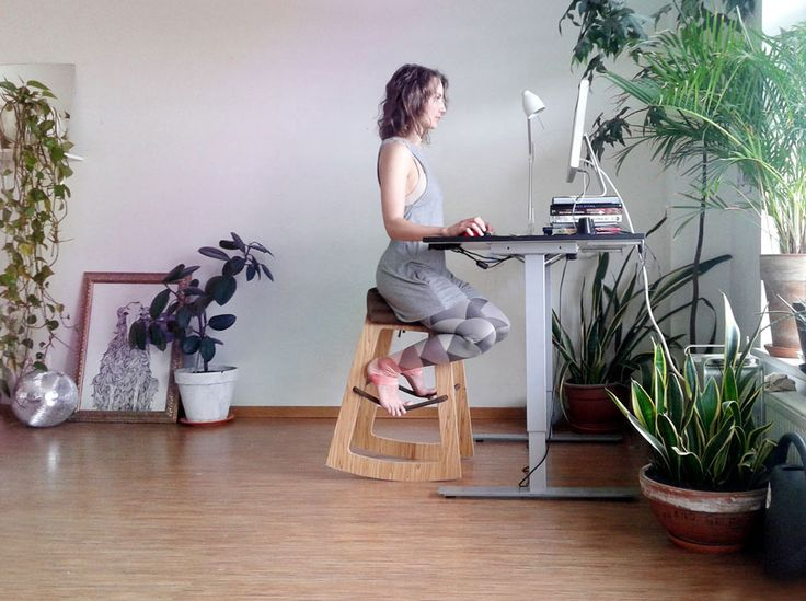 Muista is a work chair that looks more like a stool, but it allows your body to stay more active by allowing for different sitting positions.