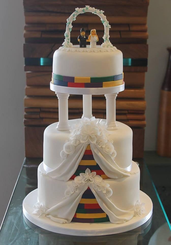 Best Lego Wedding Cake Images On Pinterest Lego Wedding Cakes - Crazy cake designs lego grooms cake design