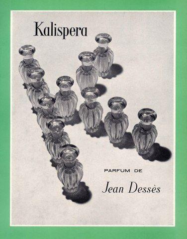 Jean Dessès (Perfumes) 1963 Kalispera