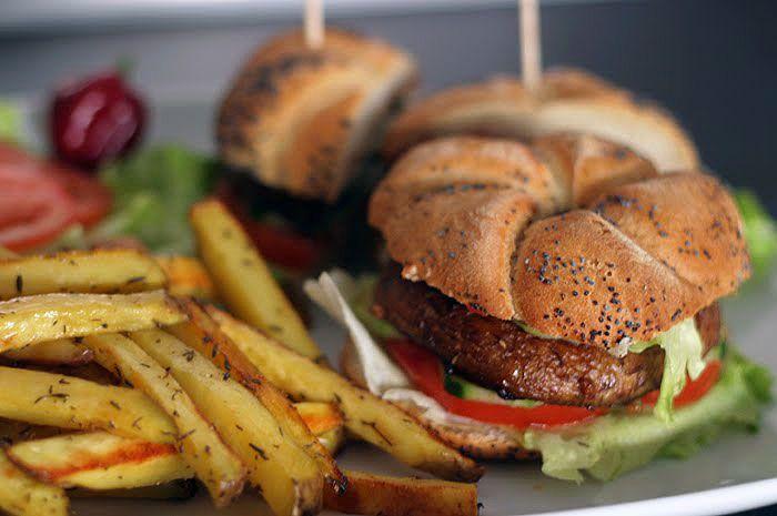 Grilované portobello burgery | Veganotic