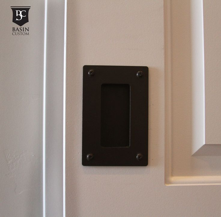 basin custom sliding interior barn door hardware pull shown in bronze