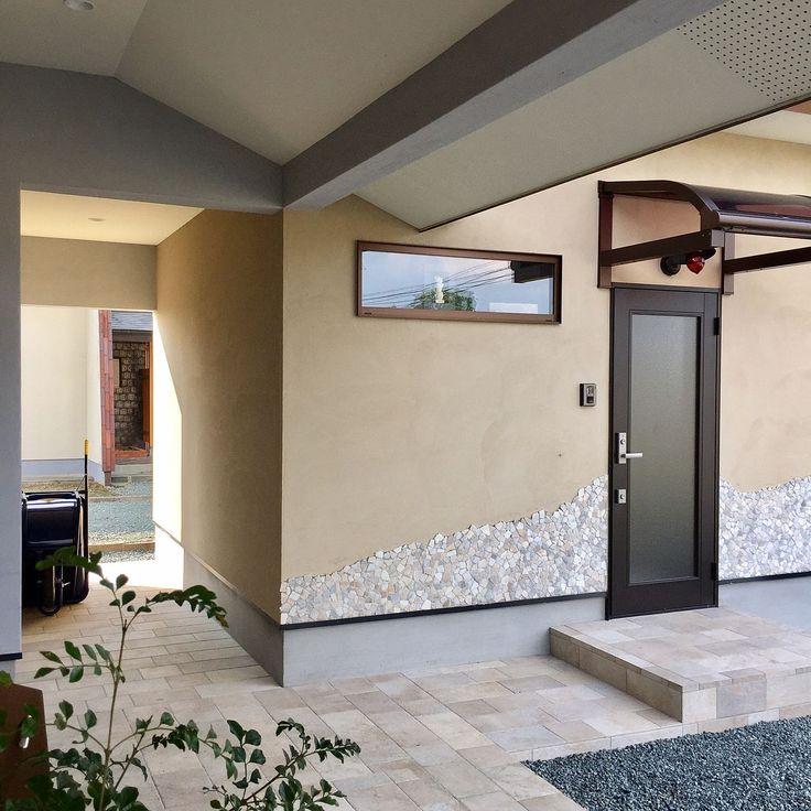 Entrance×玄関ポーチのインテリア実例 | 5ページ目 | RoomClip (ルーム ... Entrance/タイル/玄関ポーチ/自宅サロン/通路/軒天に関連