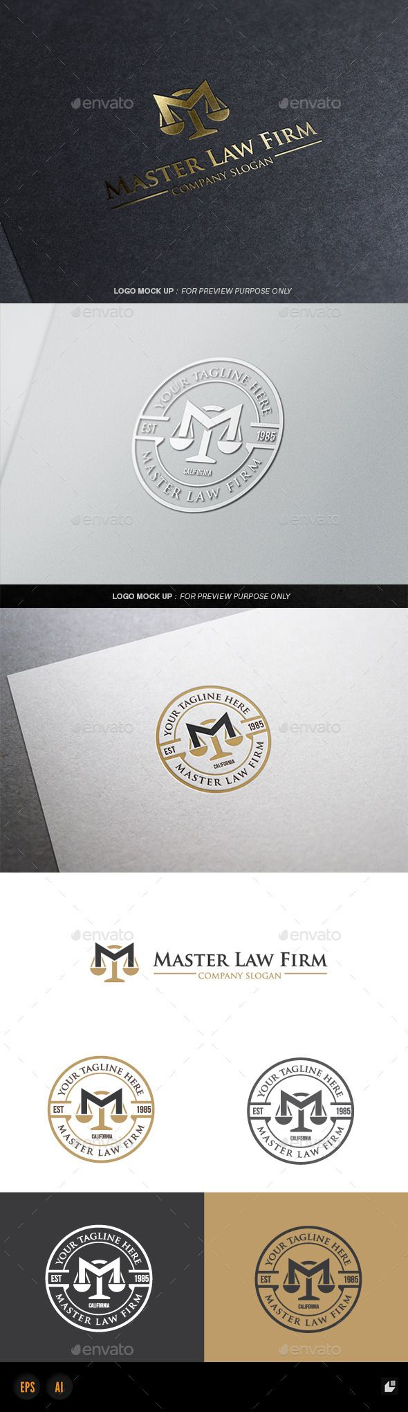 Law Firm Logo EPS Template • Download ➝ https://graphicriver.net/item/law-firm-v3/12326870?ref=pxcr