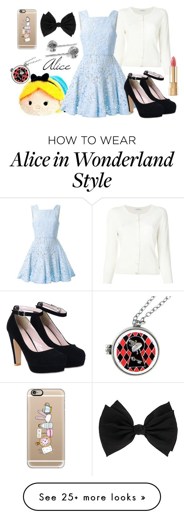 """Tsum tsum"" by clever1 on Polyvore featuring Disney, P.A.R.O.S.H., Alex Perry, Dorothy Perkins, Casetify and Dolce&Gabbana"