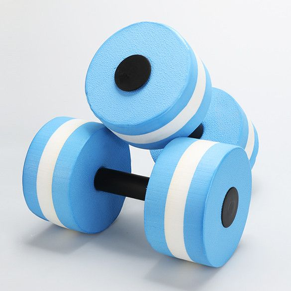 Blue Water Aerobics Exercise Dumbbell Barbell Swimming Fitness Pool Exercise Foam Sports Equipment