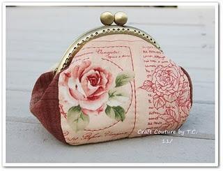 tutorial & pattern for vintage rose purse frame