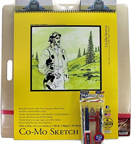 Mega Drawing Board with Complete Drawing Set by General Pencil (Made in USA) and 24x18 Sketch Pad by Bee Paper Co Online Art Supplies http://smile.amazon.com/dp/B00TTVAXIA/ref=cm_sw_r_pi_dp_9JSbxb1QS64E4