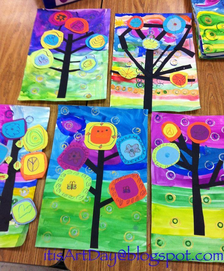 It's Art Day!: Kandinsky Trees