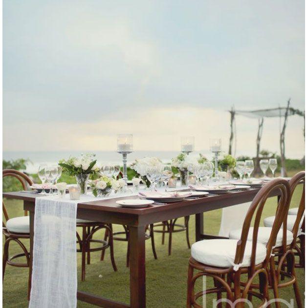 47 best tablescapes images on pinterest bali wedding dream bentwood chair island wedding ocean views bali destination wedding reception ideas junglespirit Images