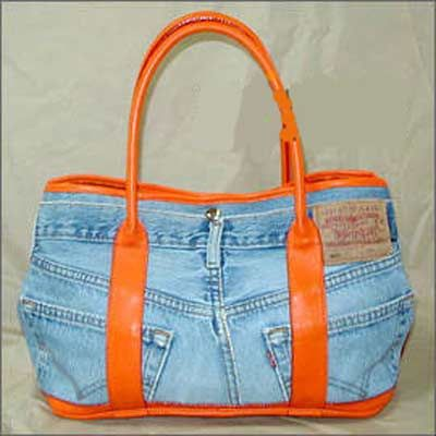 Lots of denim bags