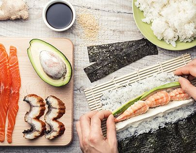 "Check out new work on my @Behance portfolio: ""Sushi making ingredients