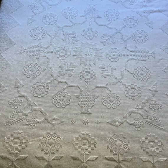 Full or Queen Chenille Bedspread Vintage by RetroResaleSanDiego