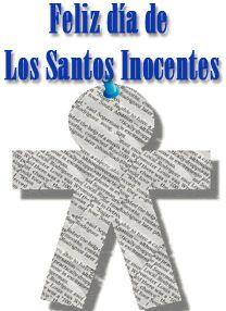 Feliz día de los Santos Inocentes!