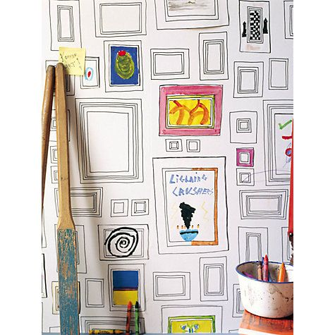 Buy Graham & Brown Frames Wallpaper, White Online at johnlewis.com