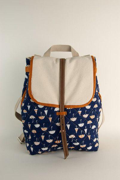 navy brolly nap sac: Fashion, Naps Sack, Umbrellas Prints, Autumn, Cute Backpacks Purses, Umbrellas Bags, Duffle Bags, Accessorizing, Umbrellas Backpacks