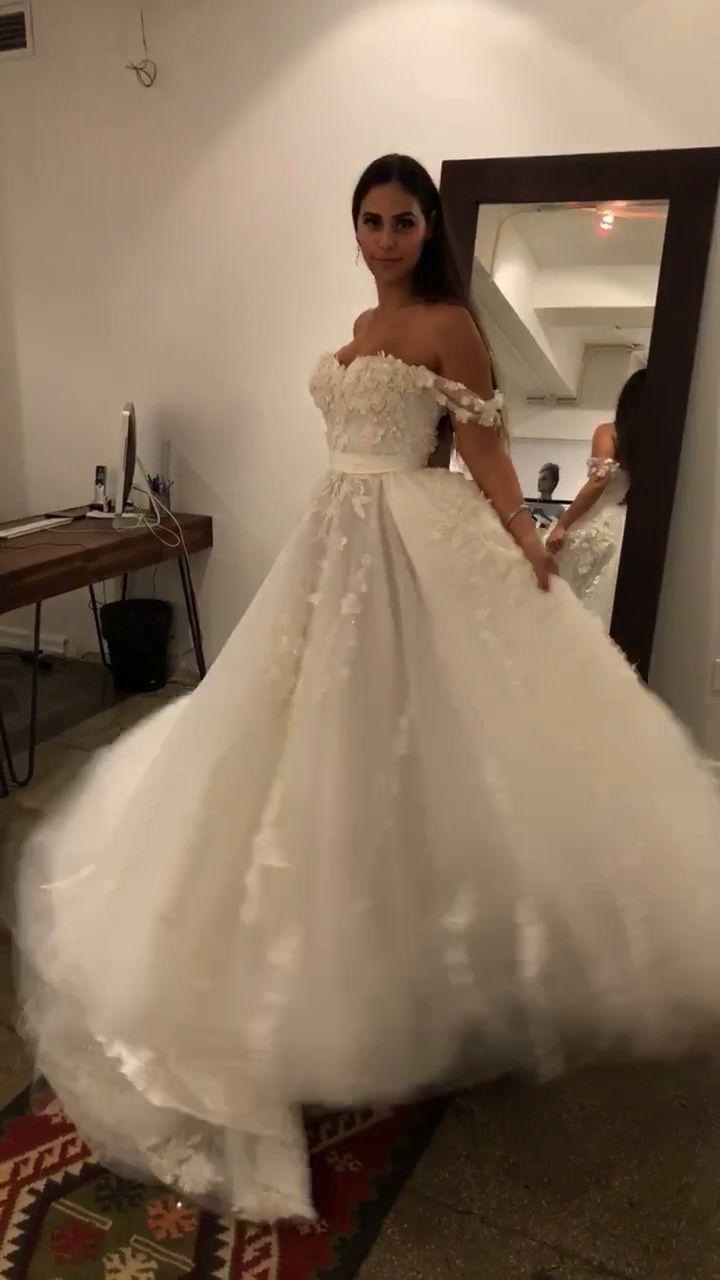 danymizrachi floral princess wedding gown Princess wedding dress