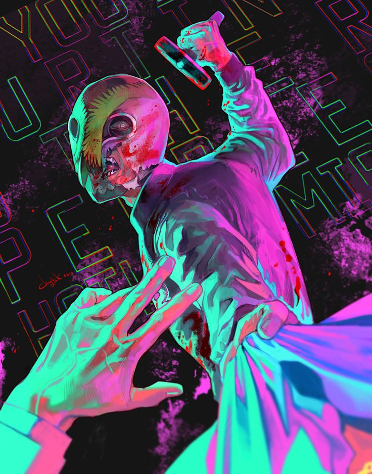 Daily Drawing 06/09 - Hotline Miami