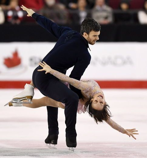 Meagan Duhamel, of Lively, and Eric Radford perform the senior pair free program during the National Skating Championships in Ottawa on Saturday, Jan. 21, 2017. THE CANADIAN PRESS/Sean Kilpatrick ORG XMIT: SKP134 Meagan Duhamel Eric Radford
