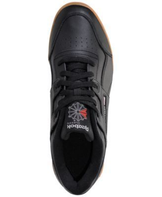 273f24ebd13 Reebok Men s Workout Plus Casual Sneakers from Finish Line - BLACK CARBON CLASSIC  RED