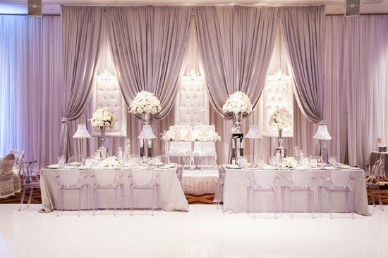 elegant wedding decor toronto real weddings rachel clingen decor backdrops pinterest. Black Bedroom Furniture Sets. Home Design Ideas