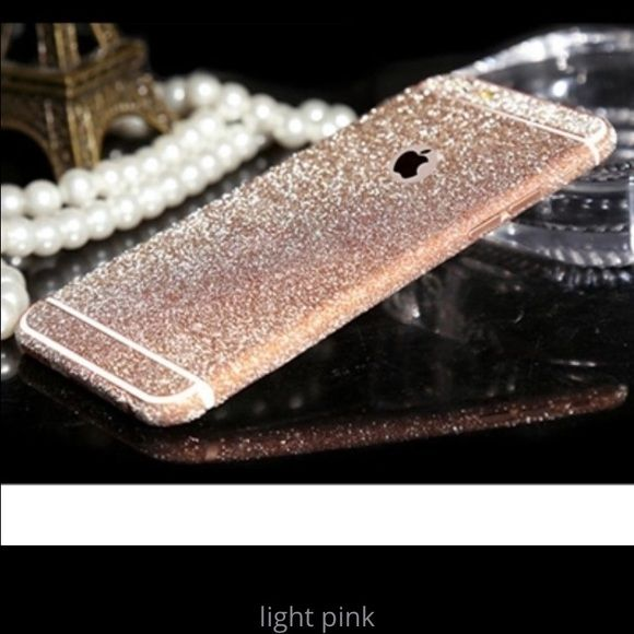 1 iPhone 6/6s Light Pink Glitter Skin Decal Brand new Price firm No trades I do bundle Buy 3 items or more get 15% off order •For IPhone 6/6s •1 Set of iPhone Decal Stickers Accessories Phone Cases