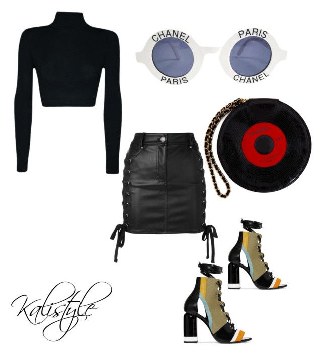 """Untitled #104"" by kalistyless on Polyvore featuring Chanel, Pierre Hardy and Versus"
