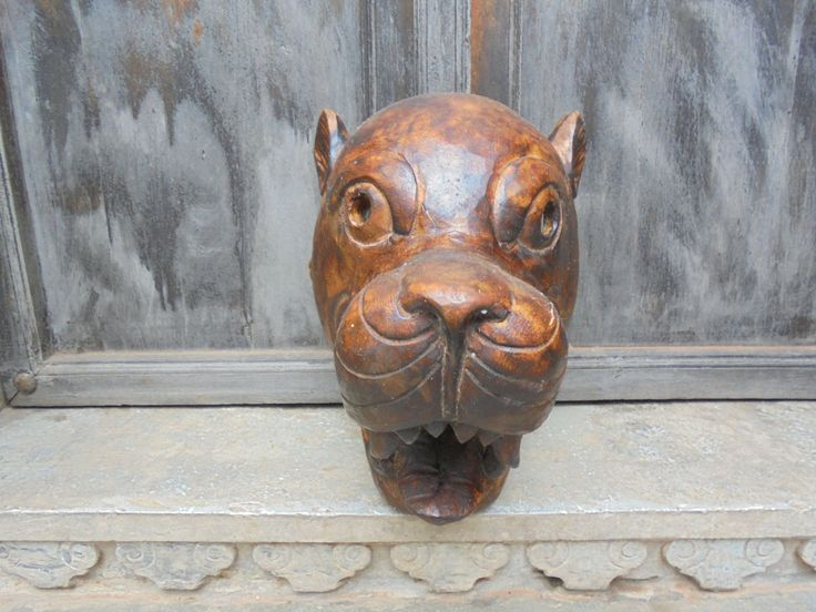 Vintage Nepalese Ceremonial Tiger Mask. by Lallibhai on Etsy