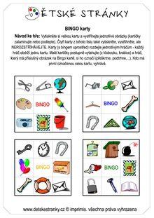 Bingo – velká karta k rozstříhání obrázků