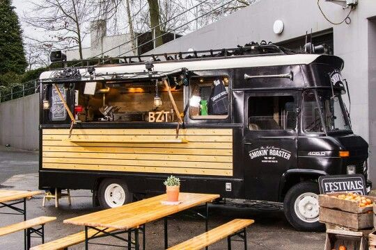 Smoking Roaster BBQ food truck, Surf& Turf burgers