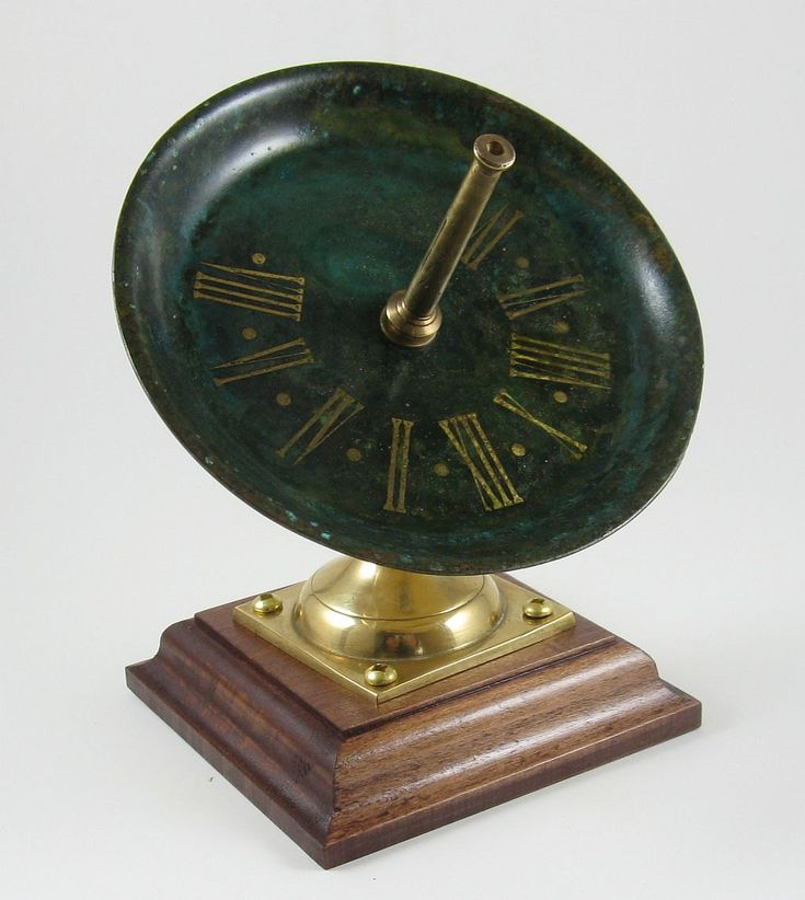 Sundial, Small Equatorial, Upcycled Brass, fully functional, executive art 001b by crquack on Etsy