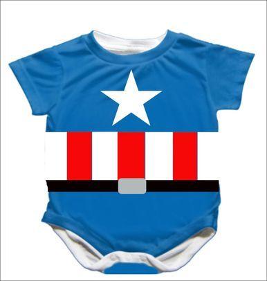 Captain America Onesie! Superhero baby- so cute. Geek baby!