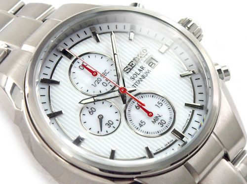 Seiko Men's Solar Titanium Chronograph 100m Watch SSC363P1 - In Stock, Free Next Day Delivery, Our Price: £209.99, Buy Online Now