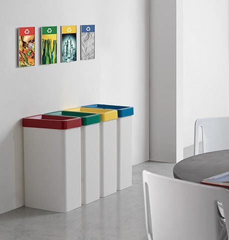 Always start with paper and card recycling as it is usually the most visible and highest volume waste product in the office. Over time try to expand the recycling system to other waste materials – glass, plastics, fluorescent light bulbs, batteries, toners, CDs, food waste, furniture, IT equipment etc.).