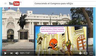 TIC en IE.5136 Fernando Belaúnde Terry - Callao: ¿Qué es el Congreso? Historieta para Niños en Vide...