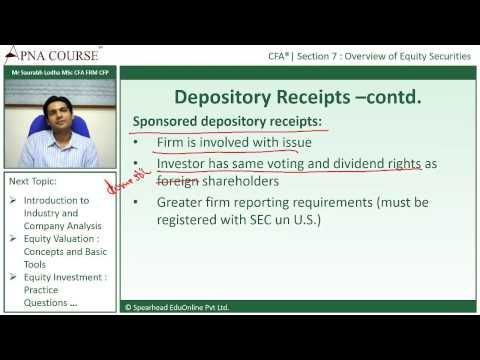 Learn the Concept of Depository Receipts  Learn more concepts related to CFA here.  https://www.apnacourse.com/course/cfa-1