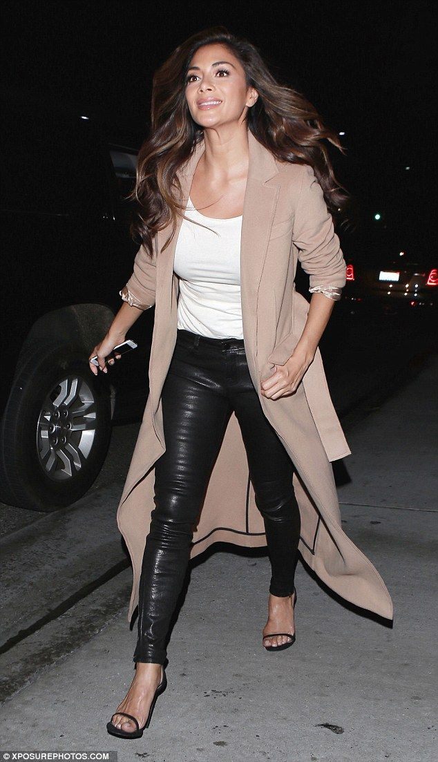 Night on the town: Nicole Scherzinger was looking fabulous as she stepped out for a meal a...