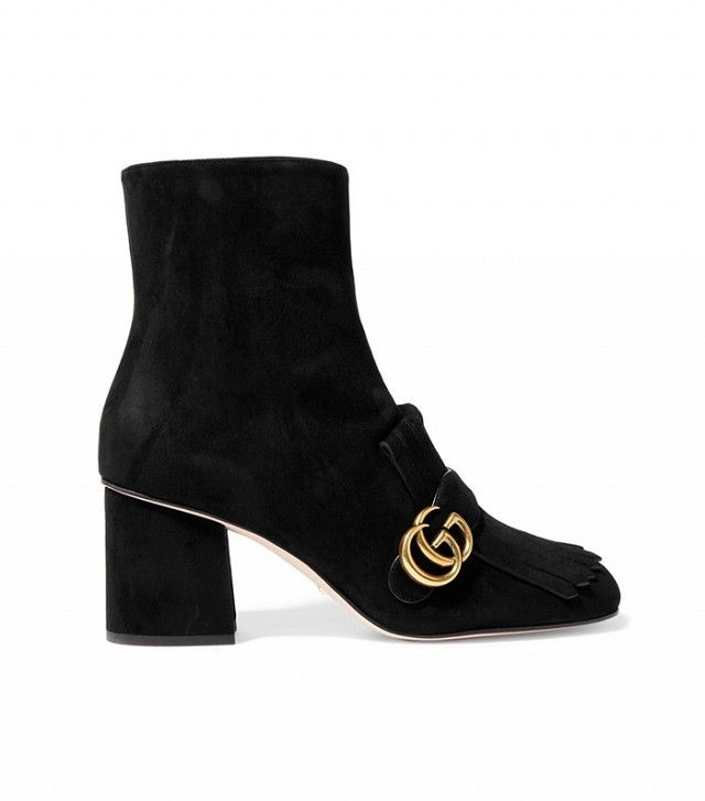 Gucci Fringed Suede Ankle Boot