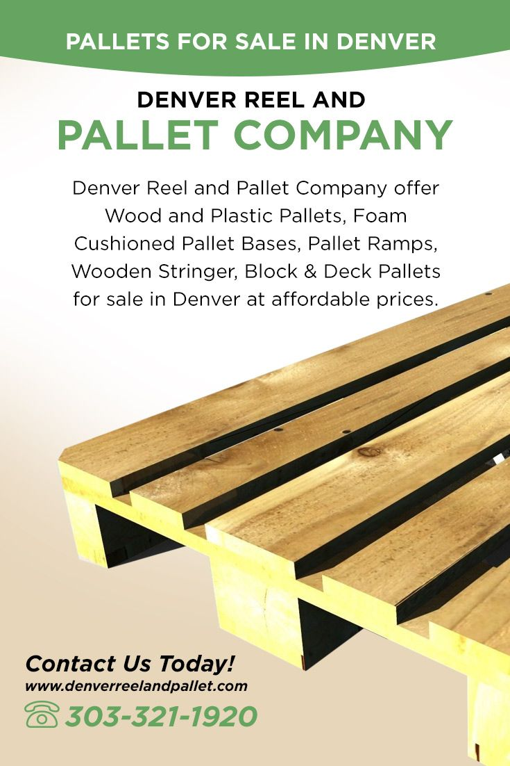 Denver Reel and Pallet Company offer Wood and Plastic Pallets, Foam Cushioned Pallet Bases, Pallet Ramps, Wooden Stringer, Block & Deck #Pallets_for_sale_in_Denver at affordable prices.